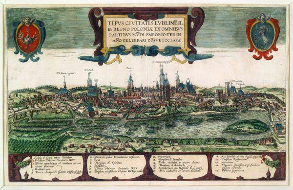 Panorama nowożytnego Lublina.