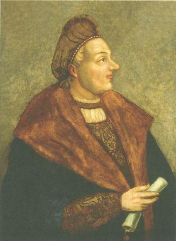 Król Zygmunt Stary na obrazie Hansa Dürera. To ten król zaprowadził w polskim systemie monetarnym jako taki porządek.