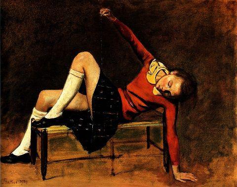 Trudno oprzeć się wrażeniu, że Balthus miał obsesję na punkcie dziewczęcych ud.