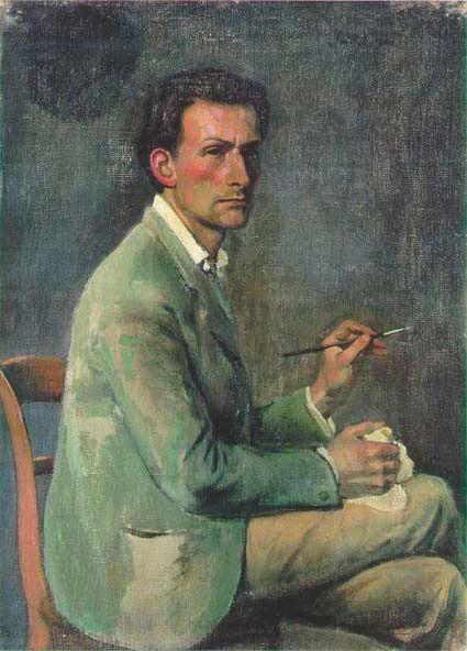 Autoportret malarza. Niektórzy mogliby powiedzieć: autoportret pedofila.