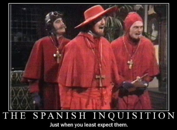 Nikt się nie spodziewa hiszpańskiej inkwizycji... w XIX wieku!