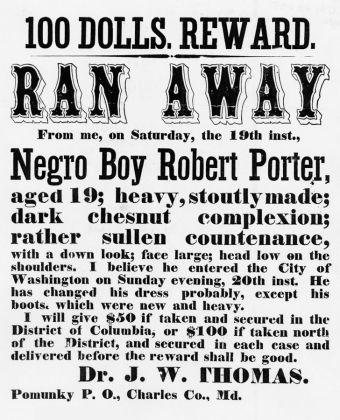 Czarnuch uciekł! Ogłoszenie o zbiegłym niewolniku.