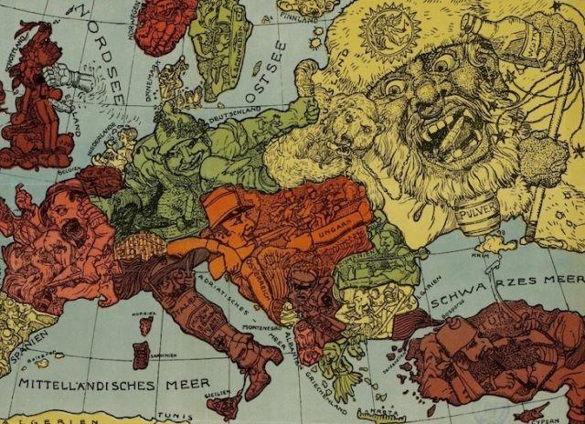 Rosja jako pijak Europy? Niby karykatura z początku XX wieku, ale zaskakująco trafiona...
