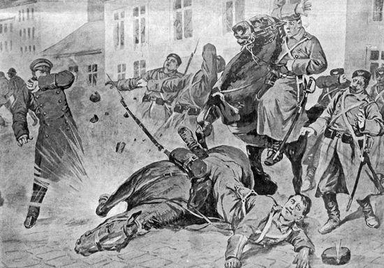 W trakcie rewolucji 1905 roku PPS postawiła na terror jako skuteczną metodę walki z caratem.