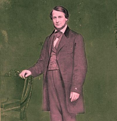 Clement Laird Vallandigham. Portret z pierwszej połowy lat 60.