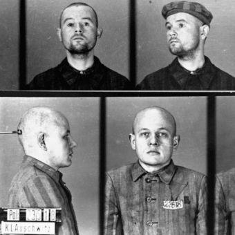 Fotografie obozowe dwóch więźniów Auschwitz zesłanych do obozu za homoseksualizm.