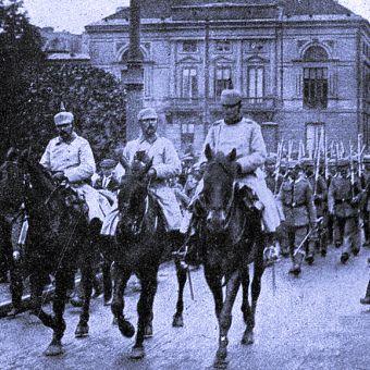 Niemieckie wojska w Warszawie podczas I wojny światowej.