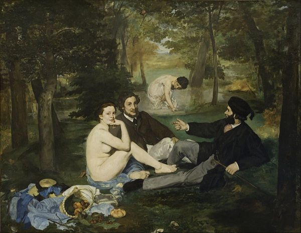 """Jednym z pierwszych efektów współpracy Victorine i Maneta był obraz """"Śniadanie na trawie"""". Burza, którą wywołał była jednak tylko preludium do lawiny gromów, która posypała się na oboje później."""