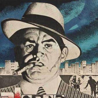 Al Capone. Fragment hiszpańskiego plakatu filmowego.