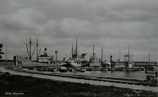 """Port w Slite. To właśnie w tym Szwedzkim mieście tak gościnnie przyjęto """"Janka""""."""