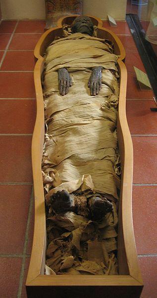 Mumia ze zbiorów Muzeum Watykańskiego (fot. Sherurcij).