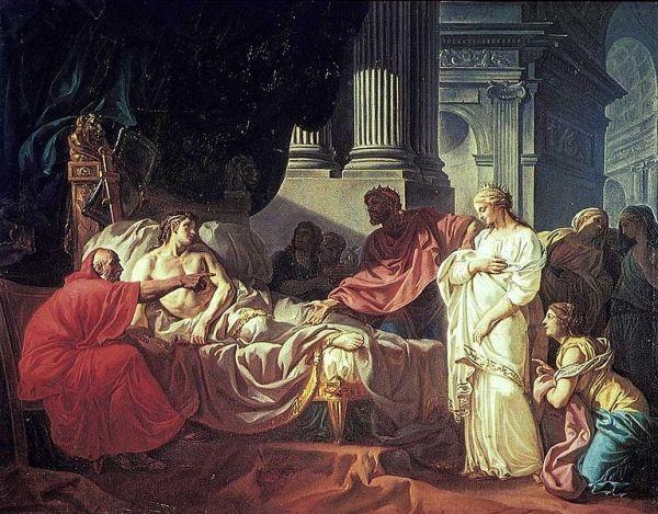 Zdiagnozowanie Antiocha I Sotera, który jak się okazało był chory z miłości.