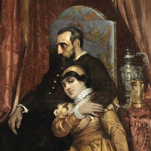 Zygmunt August i Barbara Giżanka