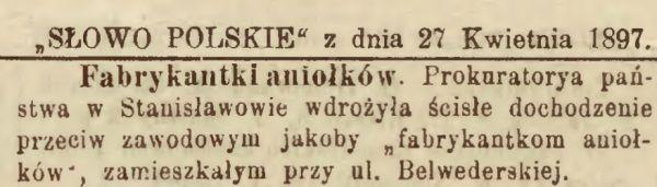 """Polskie gazety donosiły o coraz to nowszych przypadkach """"fabrykantek""""."""