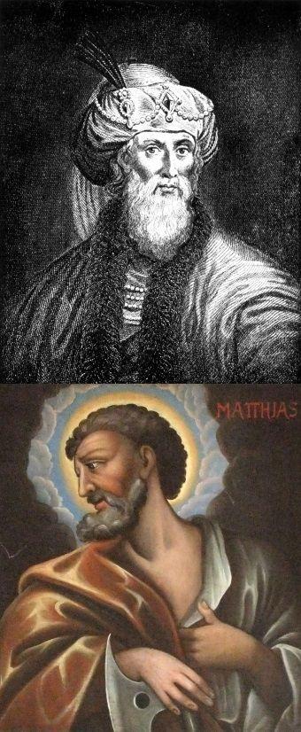 Główny świadek obrony Józef Flawiusz (u góry) i najważniejszy świadek oskarżenia - Mateusz Ewangelista.