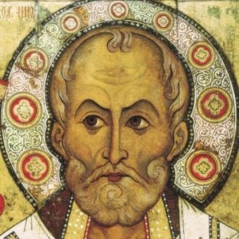 Tak świętego Mikołaja wyobrażają sobie kościoły wschodu.