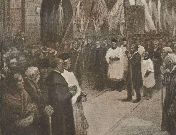 Carscy żołnierze za nic mieli szacunek dla świątyni. Strzelali do wnętrza kościoła, gdzie zgromadzeni byli wierni.