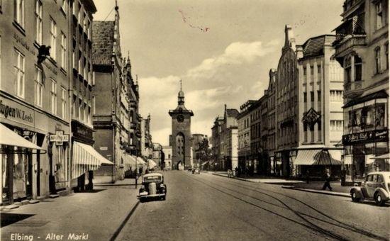 Elbląg (a właściwie wtedy jeszcze Elbing) na pocztówce z okresu międzywojennego. W styczniu i lutym 1945 r. to piękne miasto zostało w znacznym stopniu zniszczone.