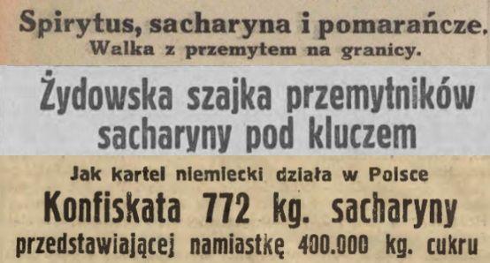 Słodzikowa obsesja. Sensacyjne nagłówki przedwojennych gazet.