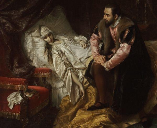 Ostatnie chwile Barbary na znanym obrazie Józefa Simmlera.